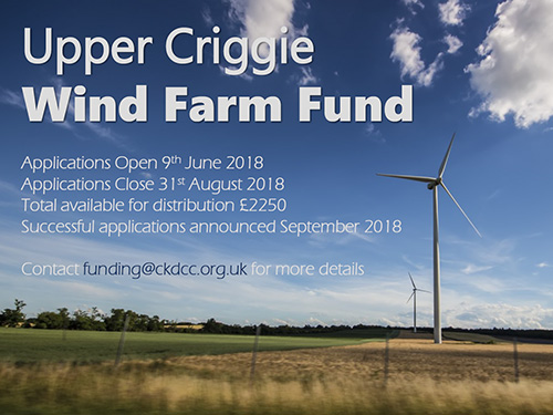 2018 Upper Criggie Wind Farm Community Fund